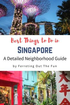 Fun things to do in Singapore organized by neighborhood // #travel #destination #guide Singapore Travel Tips, Travel Advice, Travel Guide, Backpacking Asia, China Travel, Amazing Adventures, Trip Planning, Adventure Travel, Travel Photos