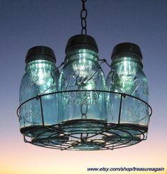 "Mason jar ""chandelier"""