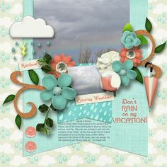 Dont Rain on My Vacation Kit: Spring in My Step by Dae Designs http://www.plaindigitalwrapper.com/shoppe/product.php?productid=13162&cat=&page=1 Template: What You Are by MarieH Designs  http://www.plaindigitalwrapper.com/shoppe/product.php?productid=11672&cat=&page=1 Fonts: Summertime and AR Cena