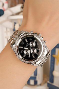 Gümüş Kaplama Metal Kordonlu Bayan Saat