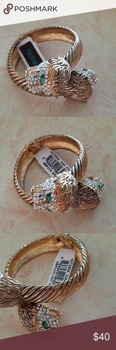 NATASHA Antique Gold Bracelet NATASHA Beautiful Antique Gold Pave Bracelet. New with tag NATASHA Jewelry Bracelets