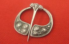 Solid Silver Scottish Celtic Iona Alexander Ritchie Penannular AR 1936 B'Ham
