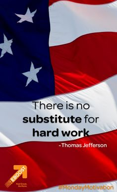 """There is no substitute for hard work."" ~Thomas Jefferson EBOOSTers everywhere, we hope you enjoy the results of all your hard work and have a wonderful Labor Day! Inspiration For The Day, Fitness Inspiration, Healthy Energy Drinks, Pre Workout Supplement, Thomas Jefferson, How To Increase Energy, Feeling Great, Monday Motivation, Hard Work"