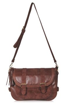 EVERMORE. Large messenger leather cross body – ELF
