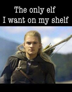 The only elf I want on my shelf! #legolas #elfonashelf