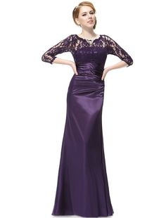 Ever Pretty Elegant Lace Long Sleeve Formal Floor Length Evening Dress 09882 at Amazon Women's Clothing store: Lace Prom Dress Long