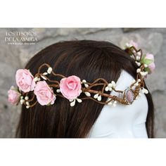 Made to Order Elven Bride Tiara Elven Tiara Fairy Circlet ($51) ❤ liked on Polyvore featuring accessories, hair accessories, black, bridal crown, bridal hair accessories, bride hair accessories, bridal tiaras and crown tiara