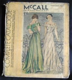 McCall Complete Catalogue, February 1935 featuring McCall 8122