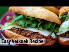One of the most popular street foods in South Africa - Vetkoek (fet-cook) Let It Rise, Raisin, Street Food, My Recipes, South Africa, Easy Meals, Popular, Cooking, Healthy