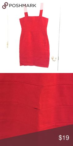 """Red INC Dress Slim fitting red INC Dress. 1"""" thick straps. Side Zipper. Small seam rip (easily repairable). INC International Concepts Dresses Mini"""