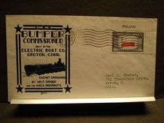 USS BUMPER SS-333 Naval Cover 1944 SPADER & HERALD WWII COMMISSIONED Cachet