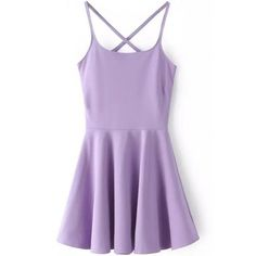 LUCLUC Purple High Waist Strappy Backless Skater Mini Dress (€17) ❤ liked on Polyvore featuring dresses, vestidos, short dresses, purple, backless cocktail dresses, strap dress, skater dresses and mini dress