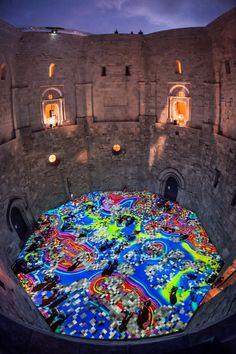 Miguel Chevalier, Magic Carpet, Castel del Monte, Puglia, Italia (2014)