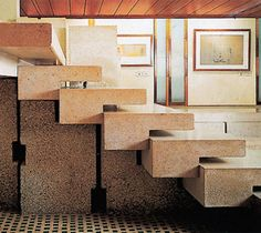 New stairs design architecture carlo scarpa ideas Carlo Scarpa, Architecture Design, Stairs Architecture, In Loco, Stair Handrail, Railings, Stair Detail, Modern Stairs, Stair Steps