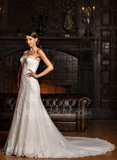 af923e4449 Trumpet Mermaid Sweetheart Chapel Train Tulle Lace Wedding Dress With  Beading Sequins (002067234). Suknie ŚlubneSukinie ...