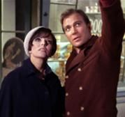 "Joan Collins and William Shatner in ""The City on the Edge of Forever""  the Star Trek Original Series episode"
