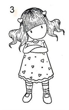 digi stamp or drawing - attitude girl - crossed arms Colouring Pages, Adult Coloring Pages, Coloring Sheets, Coloring Books, Free Coloring, Illustration, Copics, Digital Stamps, Rock Art