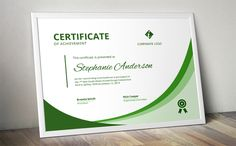 Ad: Modern ms word certificate by Inkpower on Looking for a modern yet easy to edit certificate template for MS Word? This is an easy to edit docx multi purpose certificate design that Certificate Of Achievement Template, Certificate Design Template, Invoice Template, Business Brochure, Business Card Logo, Word Program, Award Template, Modern Words, Stationery Templates