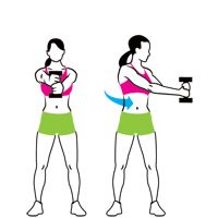 Abs in 15 Minutes- four standing exercises. I really like these because they're super simple