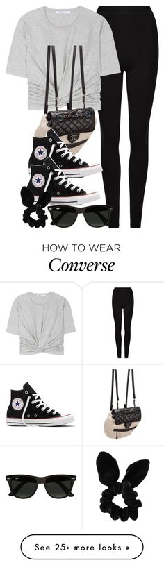 """Style #11413"" by vany-alvarado on Polyvore featuring AllSaints, T By Alexander Wang, Chanel, Converse, Ray-Ban and Topshop"