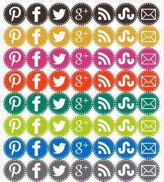 Free set of #social #media #icons!!!!!