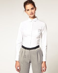 ASOS Peter Pan Collar Fitted Shirt ...out of stock :(