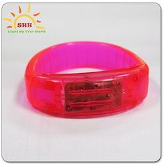 Sound Control TPU Plastic LED Flashing Light Up Bracelet 2013 Hot Products Glow Fashion Charm Bangles Made in China