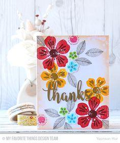 Flashy Florals Card Kit - Yoonsun Hur  #mftstamps