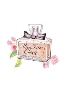 I wish I had this exact perfume siting on MY vanity! I love this design, and it is definitely the daily dose of cuteness that I need! Paper Fashion, Fashion Wall Art, Miss Dior, Boutique Parfum, Cute Marshmallows, Image Deco, Best Fragrances, Fashion Sketches, Fashion Illustrations