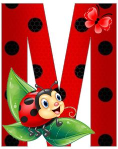 Cute Alphabet, Monogram Alphabet, Alphabet And Numbers, Ladybug Cartoon, Cartoon Lion, Crochet Collar Pattern, Christmas Tree Clipart, Dream Catcher Craft, Ladybug Crafts