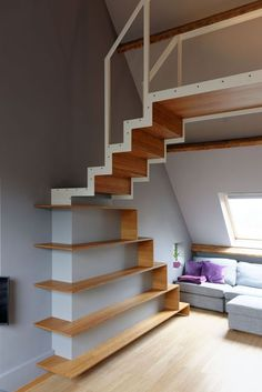 Awesome Stairs Design Home. Now we talk about stairs design ideas for home. In a basic sense, there are stairs to connect the floors Interior Stairs, Interior Architecture, Interior And Exterior, Interior Ideas, Interior Design, Modern Staircase, Staircase Design, Staircase Ideas, Staircase Remodel
