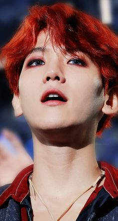 EXO Baekhyun Red Hair Wallpaper #Baekhyun #Exo #kpop #wallpaper