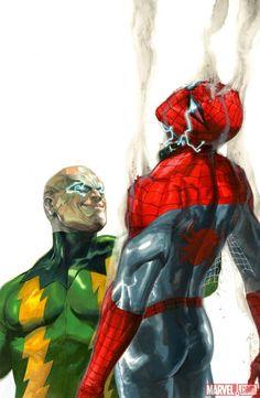 Electro vs. Spider-Man by Gabriele Dell'Otto