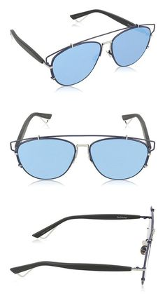 2968efd16c75 Dior PQU Blue Black Technologic Aviator Sunglasses Lens Category 3 #apparel  #eyewear #christiandior #sunglasses #shops #women #departments