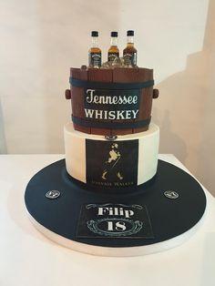Whiskey cake  by TORTESANJAVISEGRAD Jack Daniels Torte, Whiskey Cake, Fondant Tools, Cake Supplies, Tennessee Whiskey, Cake Designs, Cake Decorating, 60th Birthday, Daily Inspiration