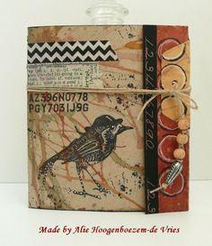 Alie Hoogenboezem-de Vries: Another folded card, coloured with Bistre - Bister...