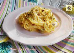 Spaghetti alla chitarra robiola e pistacchi  Blog Profumi Sapori & Fantasia