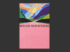 1960s Wales travel poster by Harry Stevens
