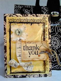 Thank you teacher card/gift by DanielleF