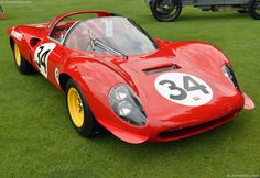 Photographs of the 1966 Ferrari 206 S. Chassis number Engine number Concours d'Elegance of America At St. An image galle. Ferrari Racing, Pretty Cars, Hot Cars, Maserati, Exotic Cars, Concept Cars, Grand Prix, Cars Motorcycles, Redheads