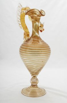 Designer & Manufacturer: Artisti Barovier Markings: none Country of Origin & Materials: Italy; on Nov 2011 Venetian Glass, Murano Glass, Glass Ceramic, Palm Beach, Female Bodies, Glass Art, Wings, Auction, Dragon