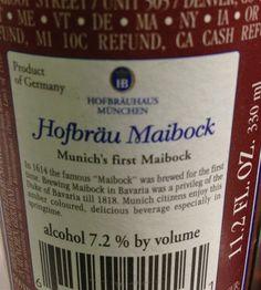 Hofbräu Maibock [German beer]