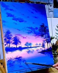 Great art by ID: (Döuyin App) Acrylic Painting Ideas acrylic painting ideas amazing App Art Döuyin Great malen Art Painting Tools, Art Painting Gallery, Canvas Painting Tutorials, Diy Canvas Art, Art Paintings, Landscape Paintings, Scenery Paintings, Painting Videos, Acrylic Art
