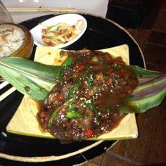The chef had a hard diarreah  last night :D  At Sasazu Restaurant, Prague.