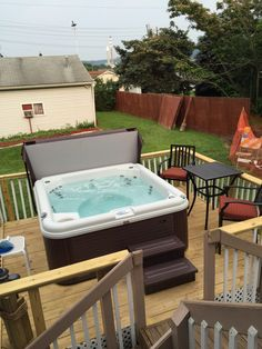 Our hot tub & deck.