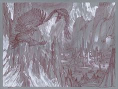 Muddy Colors: Huor and Hurin Approaching Gondolin - J.R.R. Tolkien's The Silmarillion