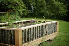 This corral is a great way to make your straw bale gardens look fabulous