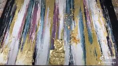 Acrylic Pouring Art, Acrylic Art, Abstract Painting Techniques, Acrilic Paintings, Gold Leaf Art, Diy Painting, Knife Art, Palette Knife, Abstract Canvas