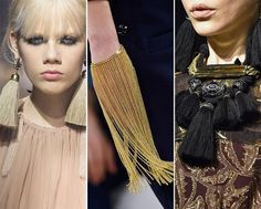 Fall/ Winter 2015-2016 Jewelry Trends: Fringed Jewelry  #accessories #trends