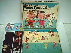 Vintage Lucy's Winter Carnival Colorforms Cartoon Kit Set Large